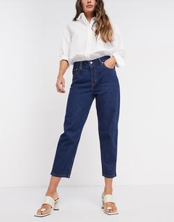 Levis - Levi's – Schmal zulaufende Jeans in dunkelblauer Waschung mit kurzem Schnitt