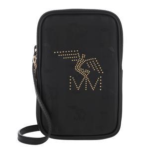 Maison Mollerus - Umhängetasche - Wildhorn Smartphone Wallet Black/Gold - in schwarz - für Damen