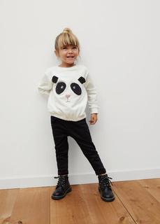 MANGO BABY - Sweatshirt aus bio-baumwolle mit stickdetail