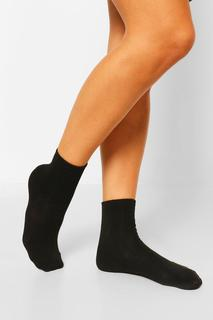 boohoo - Womens 3 Pack Sports Socks - Black - One Size, Black