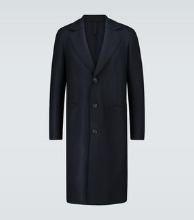 Harris Wharf London - Einreihiger Mantel aus Wollfilz