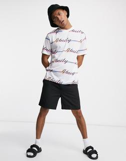 ASOS DESIGN - x glaad – Locker geschnittenes Unisex-T-Shirt mit 'Unity'-Print-Weiß