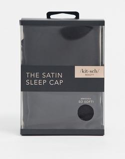 Kitsch - Schlafkappe aus Satin - Schwarz-Keine Farbe