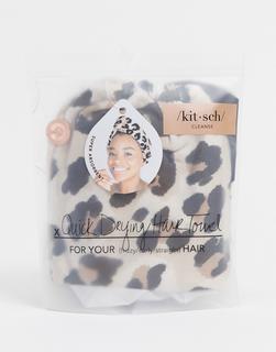 Kitsch - Mikrofaserhandtuch für die Haare, Leopardenmuster-Keine Farbe