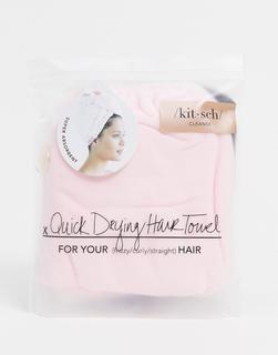 Kitsch - Mikrofaserhandtuch für die Haare – Blush-Keine Farbe
