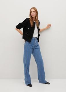 MANGO - Tweed-jacke mit taschen