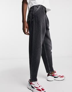 Tommy Jeans - Retro-Mom-Jeans in verwaschenem Schwarz-Grau