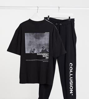 Collusion - Unisex – Übergroßes T-Shirt mit Print-Mehrfarbig