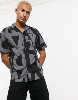 G-Star - Bristum –Kurzärmliges Hemd in Schwarz mit Print