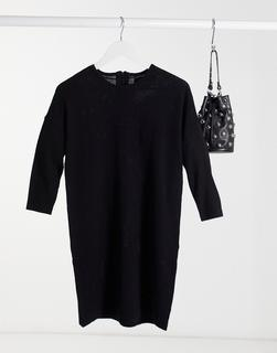 Vero Moda - Pulloverkleid mit Rundhalsausschnitt in Schwarz
