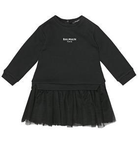 Balmain Kids - Baby Kleid aus Baumwolle