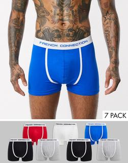French Connection - 7er Packung Boxershorts-Mehrfarbig