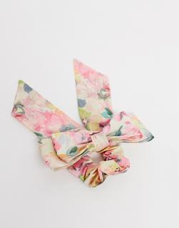 ASOS DESIGN - Haarspange mit Schleife und Vintage-Blumenmuster-Mehrfarbig