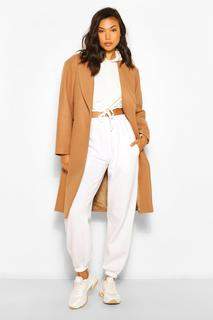 boohoo - Womens Luxe Brushed Wool Look Tailored Coat - Camel - 36, Camel