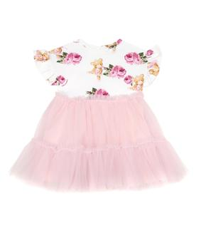 Monnalisa - Baby Kleid aus Jersey und Tüll