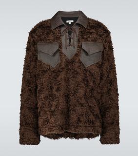 Phipps - Sweatshirt aus Mohair und Leder