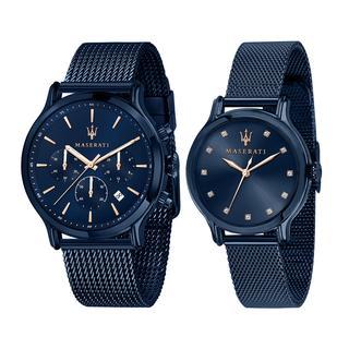 Maserati - Uhr - Blue Edition Special Pack Pair Blue - in blau - für Damen