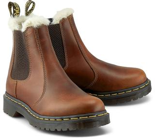 DR. MARTENS - Chelsea-Boots Leonore in mittelbraun, Boots für Damen