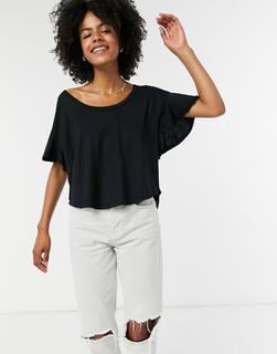 Free People - Float On – Schwarzes T-Shirt