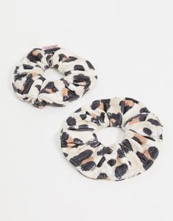 Kitsch - Haargummis aus Mikrofaser – Leopardenmuster-Keine Farbe