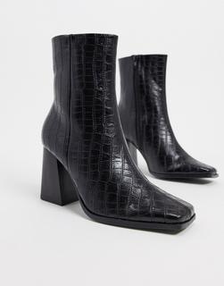 Truffle Collection - Schwarze Stiefel mit Absatz