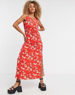 Vero Moda - Trägerkleid in Beerenblau-Rot