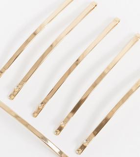 Accessorize - Exklusive, minimalistische Haarspangen in Gold