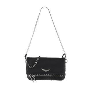 Zadig & Voltaire - Umhängetasche - Rock Clutch Nano Studs Black - in schwarz - für Damen