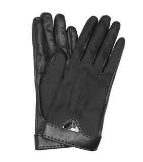 Prada - Handschuhe aus Leder und Nylon