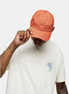 Topman - Mens Orange Unstructured Tokyo Cap, Orange
