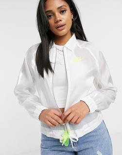 Nike - Air – Transparente Jacke in Weiß