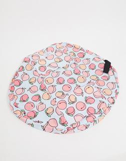Flat Lay Company - The Flat Lay Co. – Make-up-Tasche mit Kordelzug– Pfirsich-Mehrfarbig