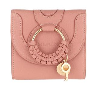 See by Chloé - Portemonnaie - Hana Square Trifold Compact Wallet Leather Dawn Rose - in rosa - für Damen