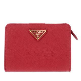 Prada - Portemonnaie - Fold Wallet Leather Fuoco - in rot - für Damen