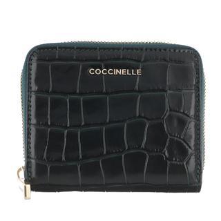 coccinelle - Portemonnaie - Croco Shiny Soft Wallet Leather Mallard Green - in grün - für Damen