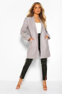 boohoo - Womens Lightweight Wool Look Coat - 36