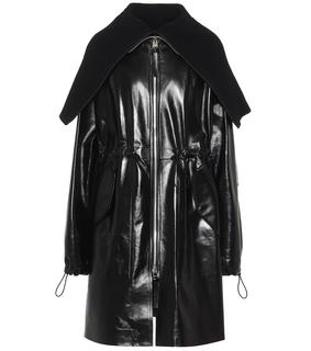 Bottega Veneta - Oversize-Mantel aus Leder