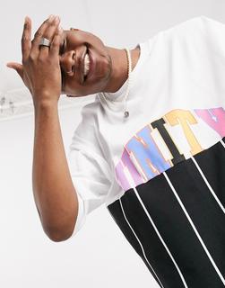ASOS DESIGN - x glaad – Unisex – Oversize-T-Shirt mit Streifen-Mehrfarbig
