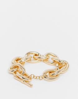 Pieces - Breites Gliederarmband in Gold