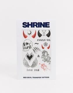 The Shrine - Shrine – Halloween Red Devil – Transfer-Tattoos-Rot