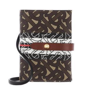 Burberry - Portemonnaie - Vivian Monogram Strap Wallet Bridle Brown - in braun - für Damen