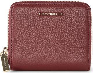 coccinelle - Geldbörse Metallic Soft in bordeaux, Geldbörsen für Damen