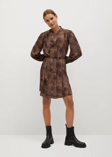 MANGO - Langes kleid mit animal-print