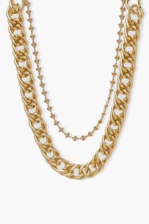 boohoo - Womens Mehrlagige Halskette Mit Gdressing Gownr Kette - Gold - One Size, Gold