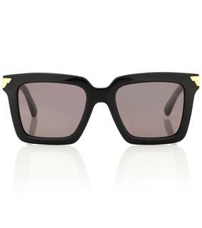 Bottega Veneta - Eckige Sonnenbrille aus Acetat