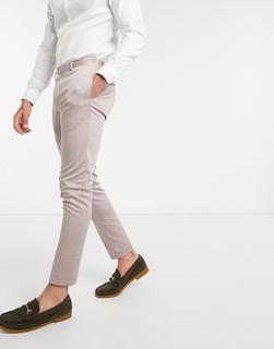 ASOS DESIGN - Wedding – Super enge Anzughose aus Stretch-Baumwolle-Violett