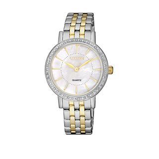 Citizen - Uhr - Elegance Wristwatch Bicolor - in silber - für Damen