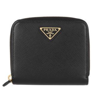 Prada - Portemonnaie - Wallet Black - in schwarz - für Damen