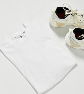 Collusion - Unisex – Langärmliges Shirt aus Bio-Baumwolle in Weiß