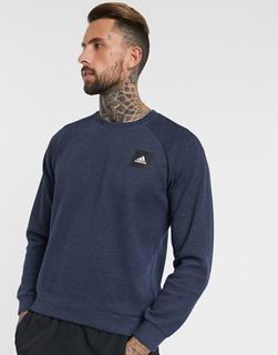 adidas Performance - adidas – Marineblaues Sweatshirt mit Box-Logo-Navy